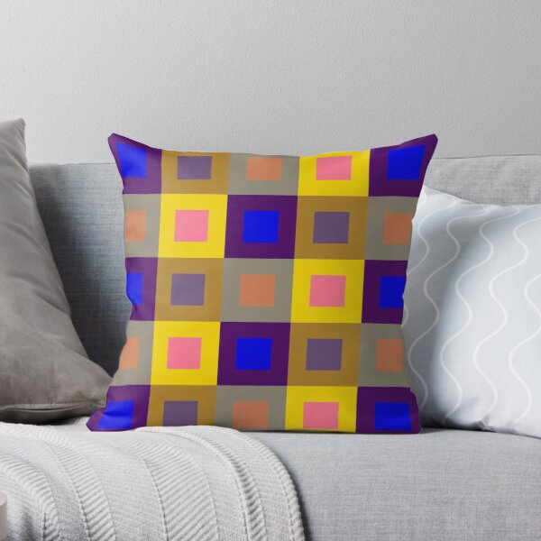 Square Deal Throw Pillow