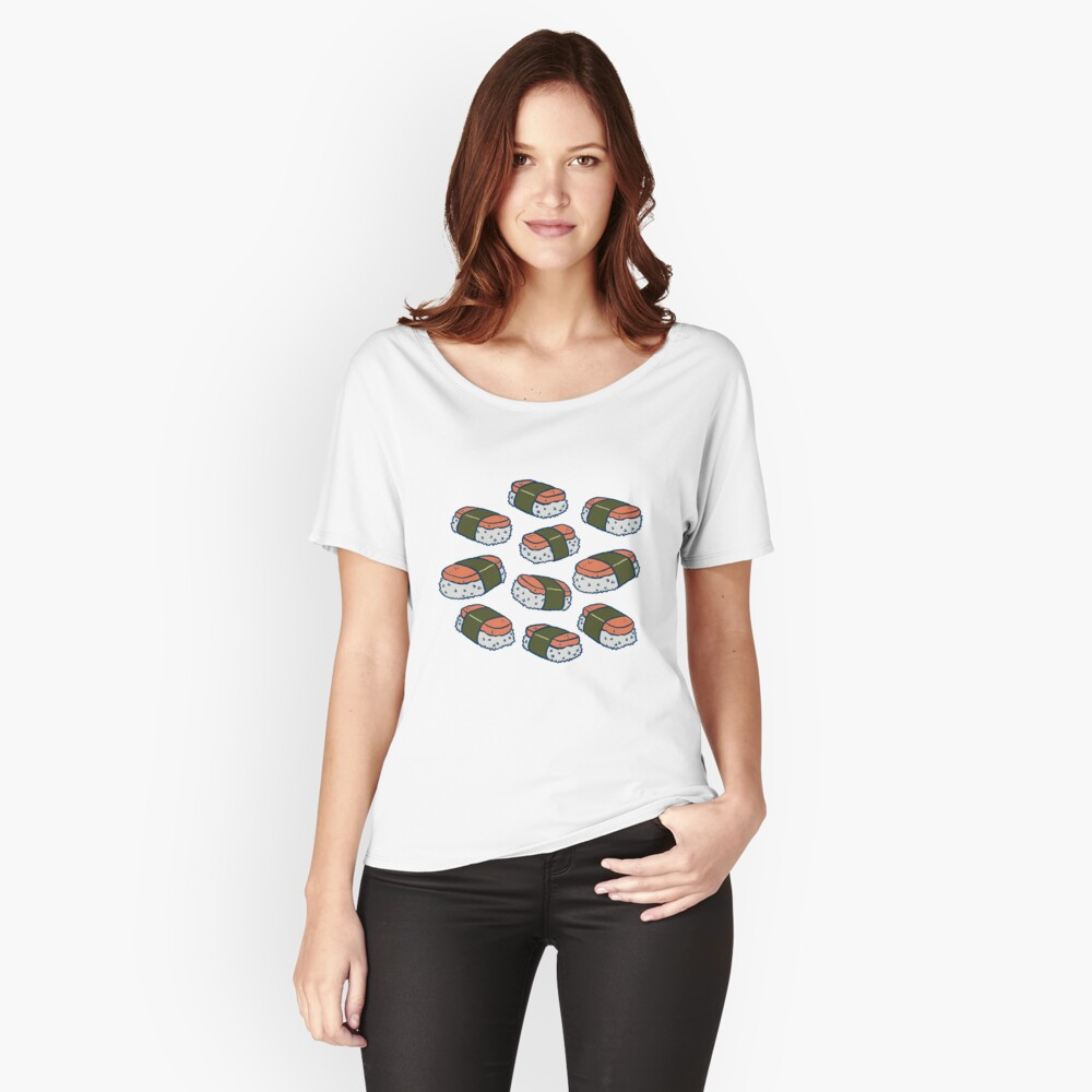Spam Musubi Sushi Pattern Relaxed Fit T-Shirt