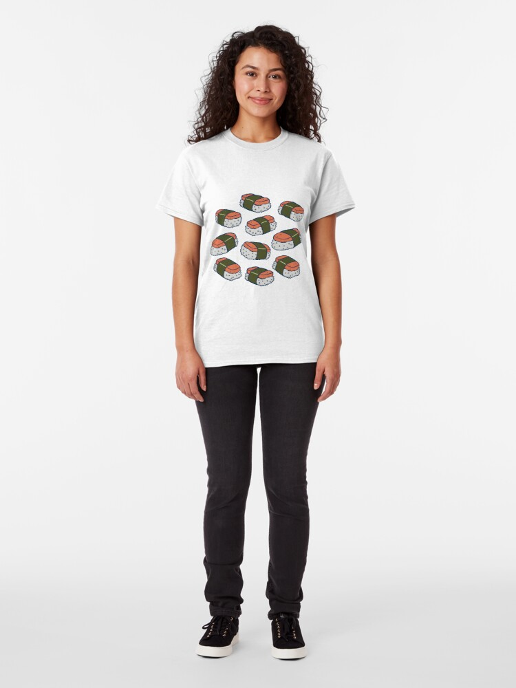 Alternate view of Spam Musubi Sushi Pattern Classic T-Shirt