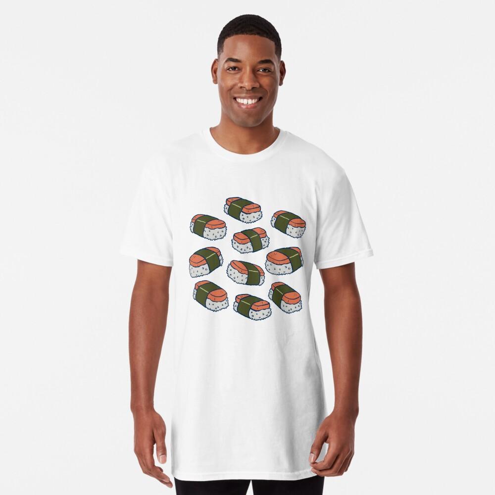 Spam Musubi Sushi Pattern Long T-Shirt