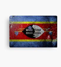Swaziland Grunge Canvas Print