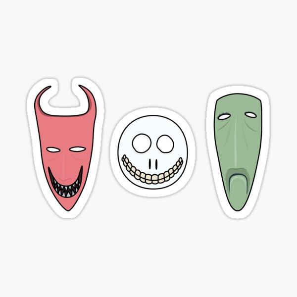 Lock, Shock and Barrel Masks Sticker