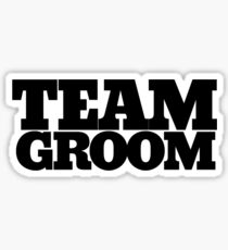 Team groom bachelor party Sticker