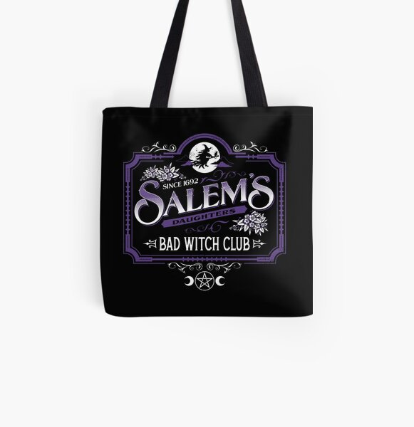 tote bag gothic bag Foxy print bag halloween bag gift for her skull bag witch clothing
