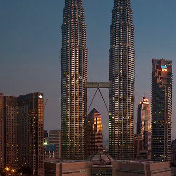 petronas towers at dawn by shaun965