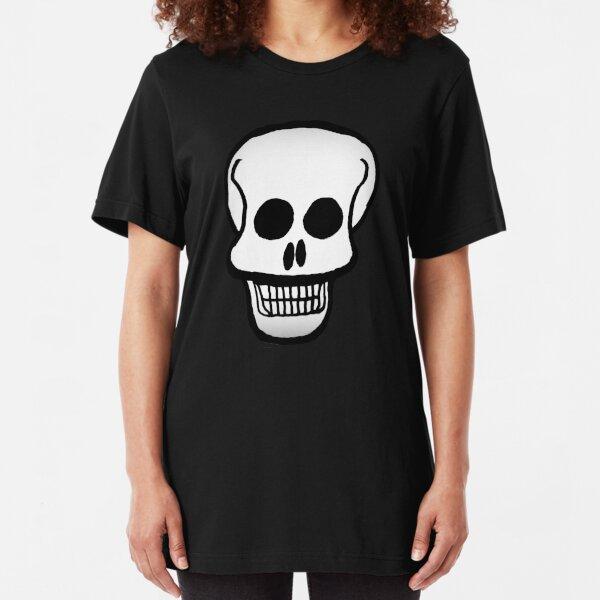 Basic Skull Pattern Design Slim Fit T-Shirt
