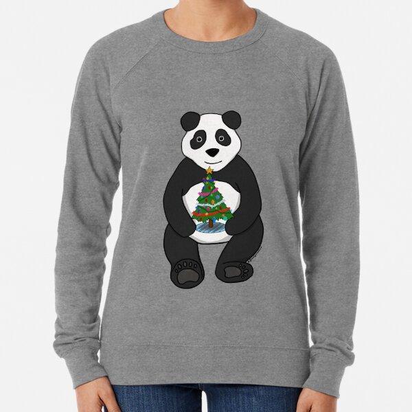 Christmas Tree Panda Lightweight Sweatshirt