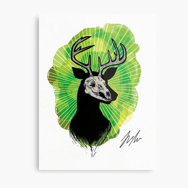 Stag Skull Metal Print