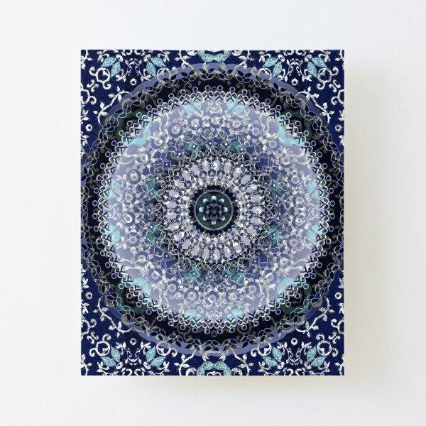 Vine Leaf Boho Mandala Canvas Mounted Print