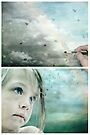 Eyes of Blue - Or Let me Paint your Grey Skies Blue by Sybille Sterk