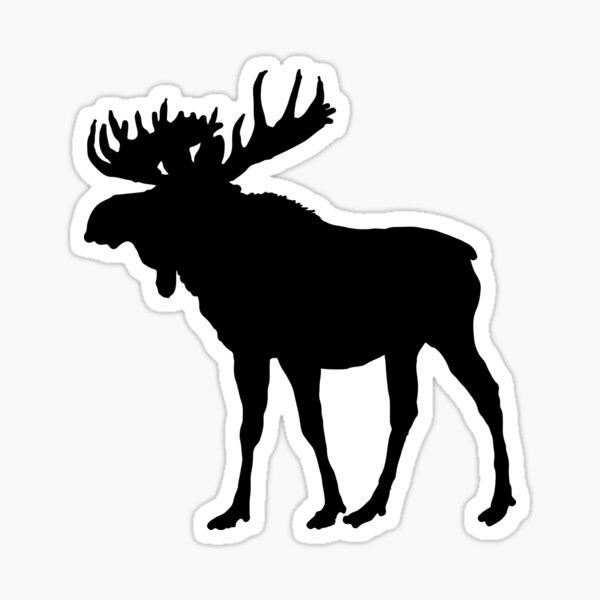 Moose Silhouette Cabin Wilderness Decor And Wear Sticker