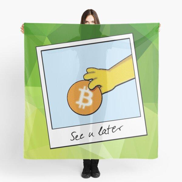 Bitcoin wir sehen uns später auf grün Tuch