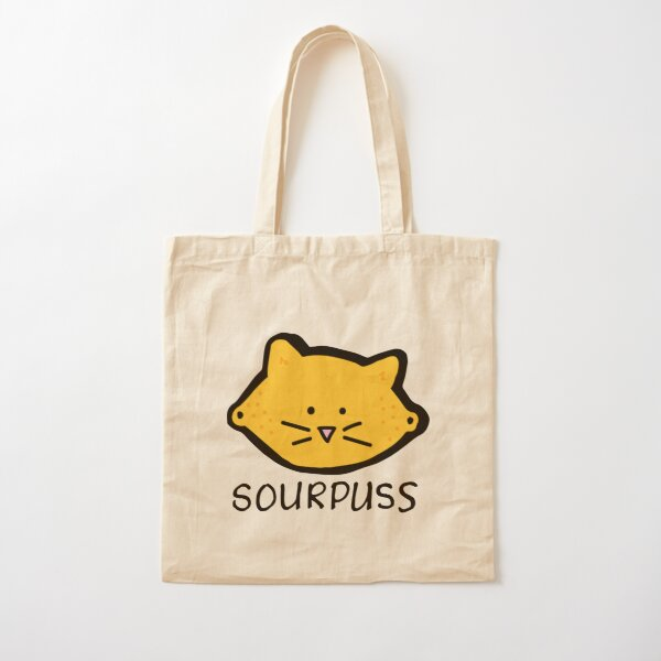 Sour Puss Cotton Tote Bag