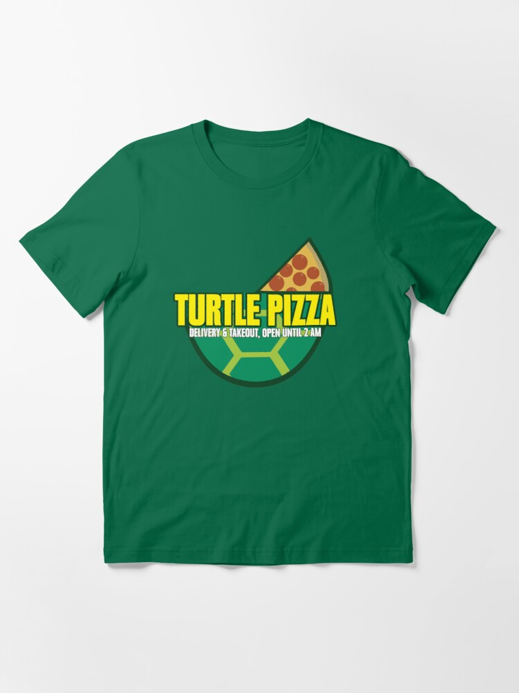 Alternate view of Turtle Pizza Essential T-Shirt