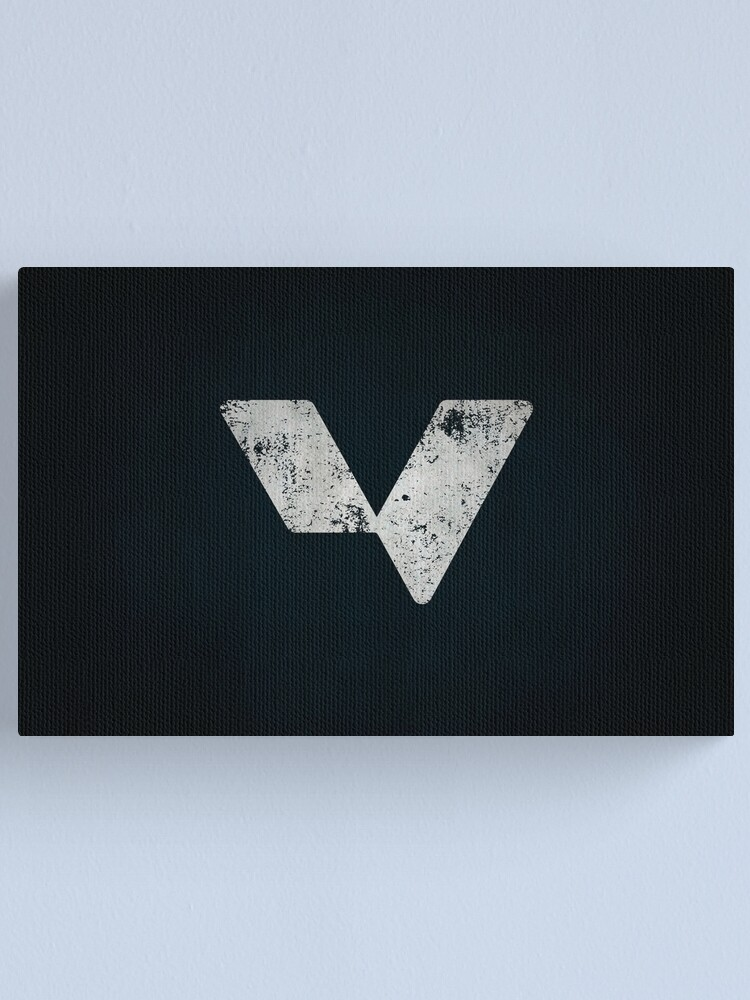 Alternate view of Men Against Fire Logo · Distressed Canvas Print