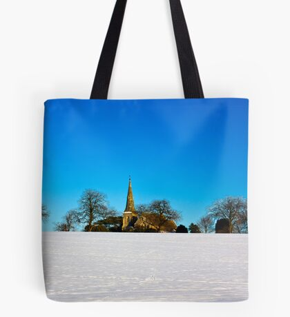 The Church on the Hill Tote Bag