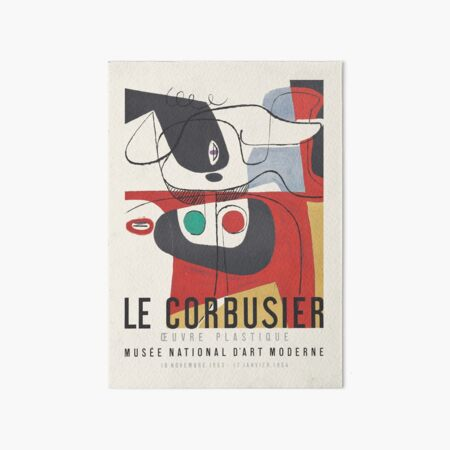 Le Corbusier - Exhibition poster for Musée National d'Art Moderne, 1954 Art Board Print