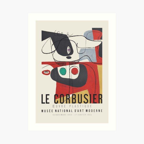Le Corbusier - Exhibition poster for Musée National d'Art Moderne, 1954 Art Print