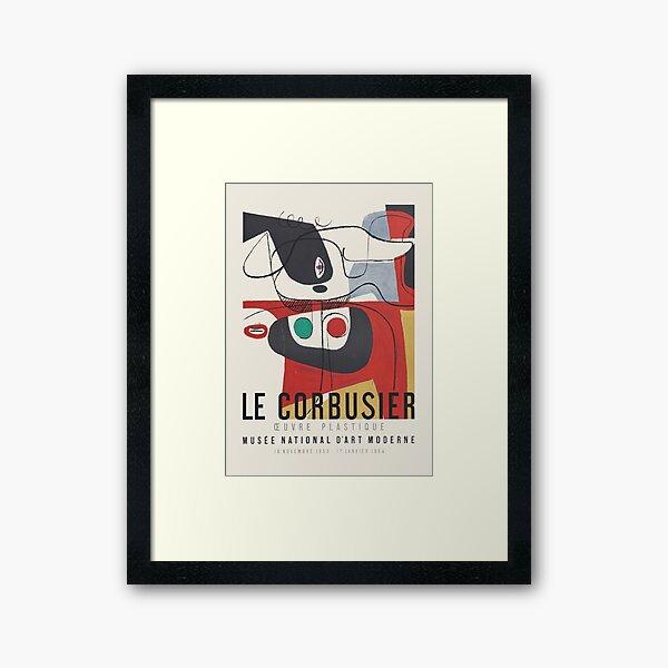 Le Corbusier - Exhibition poster for Musée National d'Art Moderne, 1954 Framed Art Print
