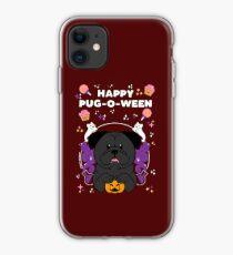 Licorice the Black Pug iPhone Case