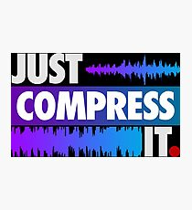 Just Compress It (Color Edition) Photographic Print