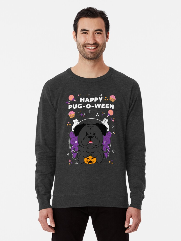 Alternate view of Licorice the Black Pug Lightweight Sweatshirt
