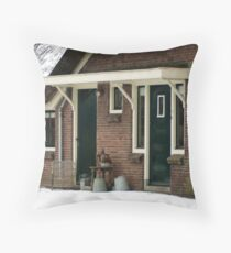 Home on the farm - doors Throw Pillow