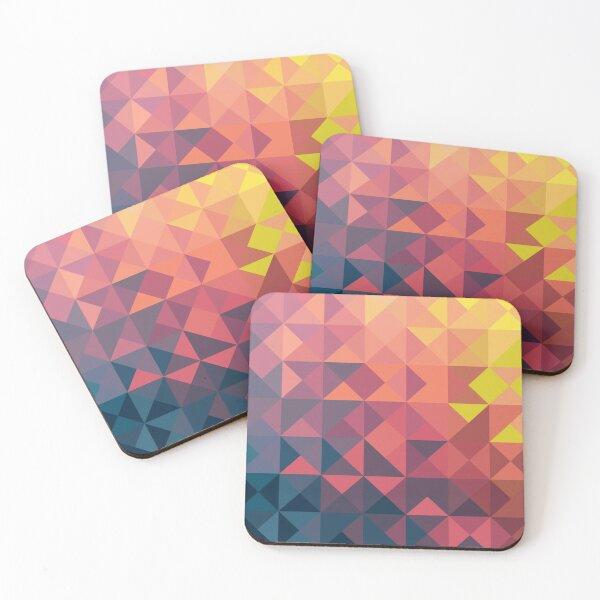 Retro Triangles Coasters (Set of 4)