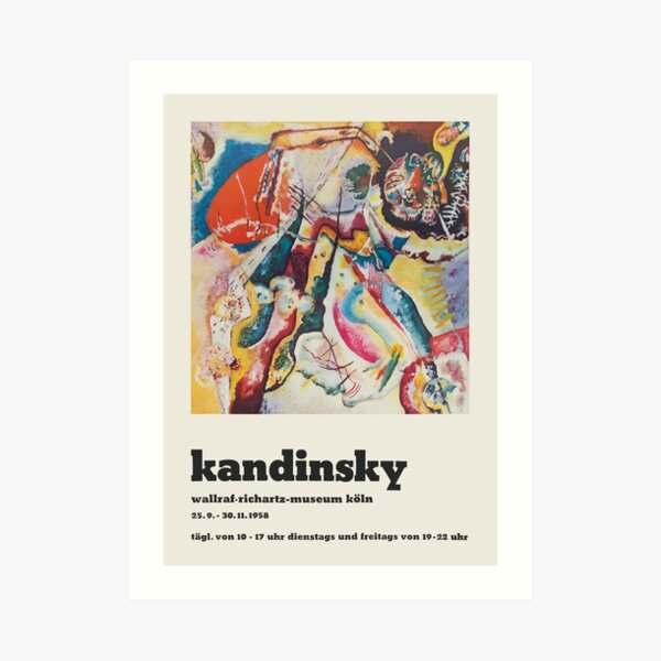 Wassily Kandinsky - Poster for the exhibition of Kandsinsky at Wallraf-Richarz-Museum in Koln 1958 Art Print