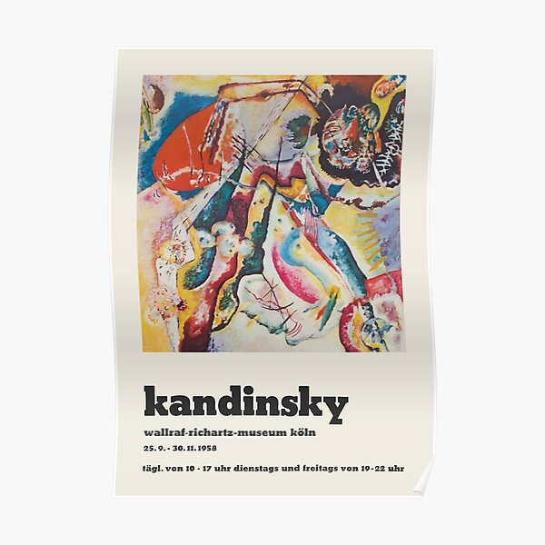 Wassily Kandinsky - Poster for the exhibition of Kandsinsky at Wallraf-Richarz-Museum in Koln 1958 Poster