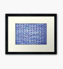 Handknit Block Fabric Framed Print
