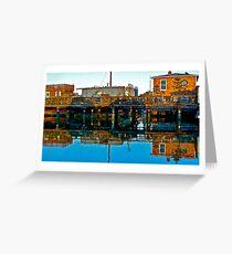 Houseboats, Gate 6, Sausalito, California, USA Greeting Card