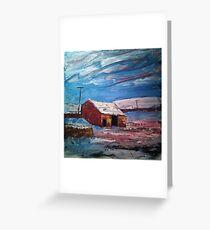 'Field Barn, Hebden' Greeting Card