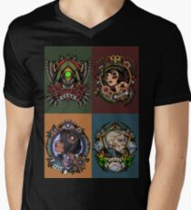 1920's Tattoo Style Borderlands 3 Squad V-Neck T-Shirt