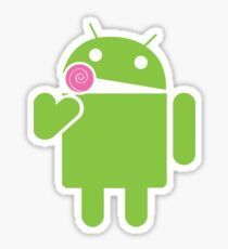 Android eats a lollipop Sticker