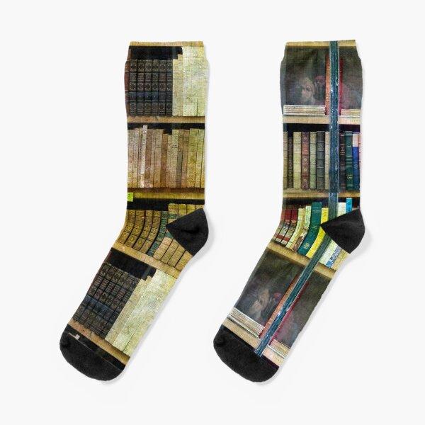 Antique Books Socks