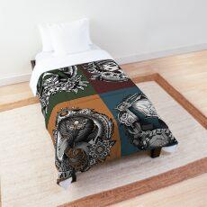 1920's Tattoo Style Borderlands 3 Squad Mono Color Comforter