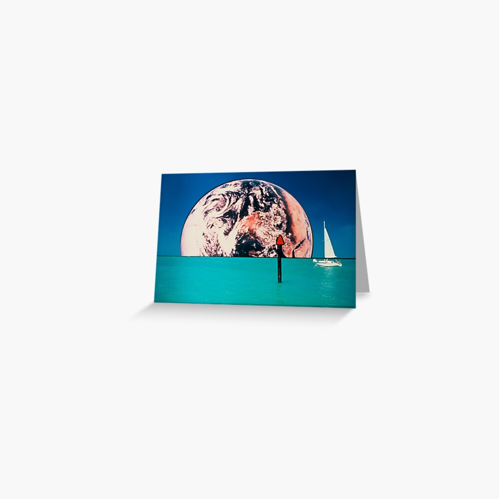 Earth Rise Over Venice Jetties Greeting Card