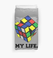 "Rubix Cube (Complex), ""My Life."" Quote Duvet Cover"