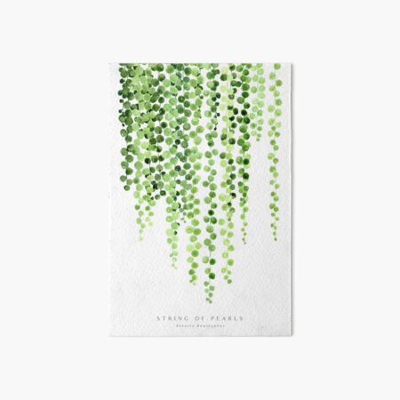 Watercolor string of pearls illustration Art Board Print