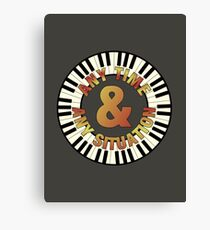 Pianist Any Time Canvas Print
