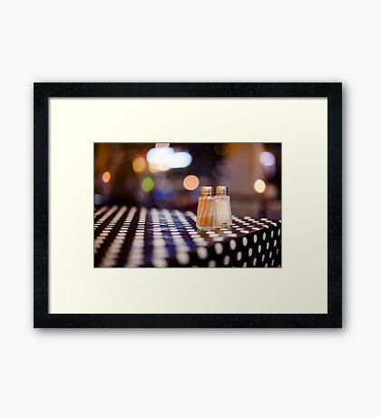 salt, pepper and white dots Framed Print