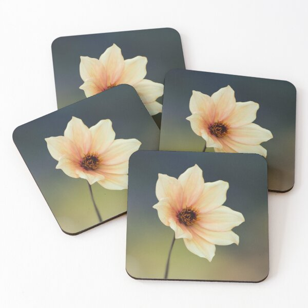 Yellow Flower  Coasters (Set of 4)