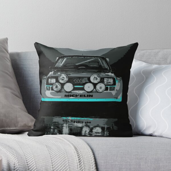 Audi Quattro S1 - GROUP B - RALLY - RACE CAR Throw Pillow