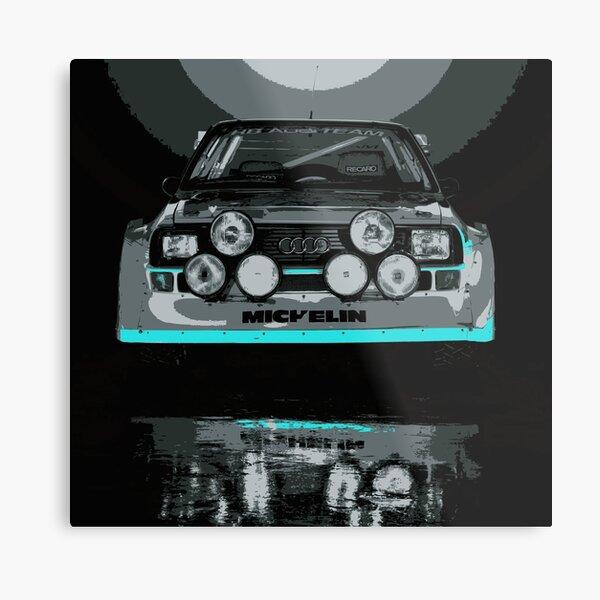 Audi Quattro S1 - GROUP B - RALLY - RACE CAR Metal Print