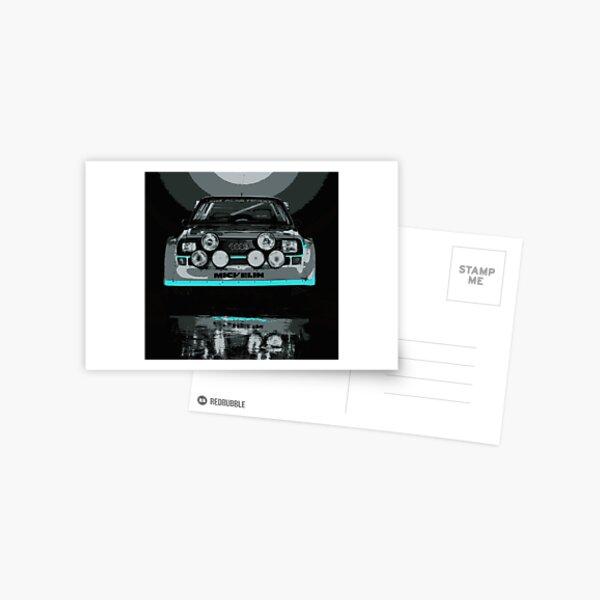 Audi Quattro S1 - GROUP B - RALLY - RACE CAR Postcard