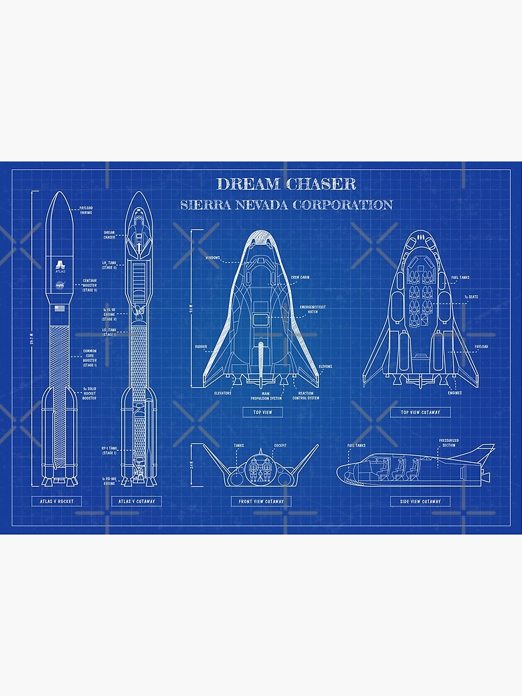 Dream Chaser Space System - Blueprint by BGALAXY