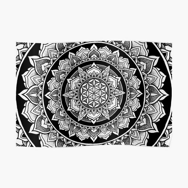 Flower of Life Mandala - Tribute Poster