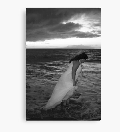 Stormy Bride Canvas Print