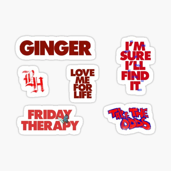 ginger mini sticker set Sticker